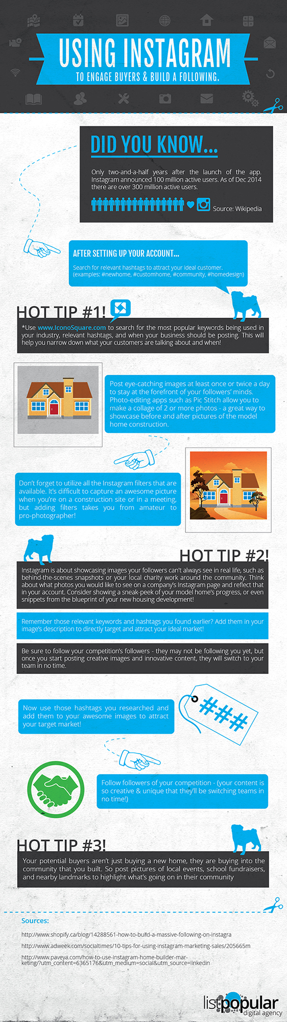 Instagram for home builders infographic