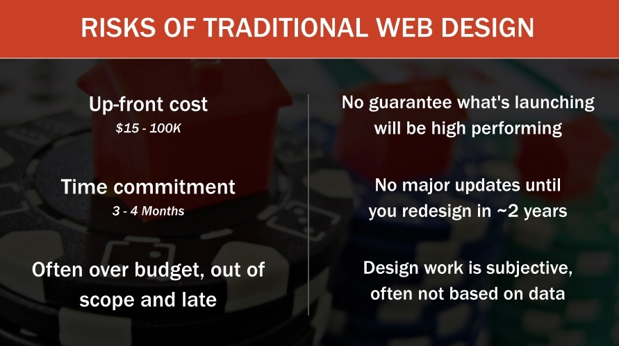risks of traditional web design